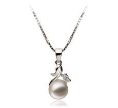 6-7mm AAAA-Qualität Süßwasser Perlenanhänger in Klara Weiß