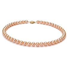 Halskette mit rosafarbenen, 7-8mm großen Süßwasserperlen in AAAA-Qualität , Latisha