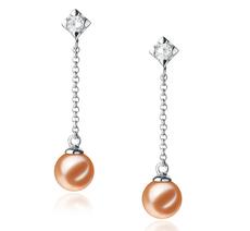PearlsOnly - Paar Ohrringe mit rosafarbenen, 6-7mm großen Süßwasserperlen in AAAA-Qualität , Maren