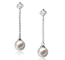 6-7mm AAAA-Qualität Süßwasser Paar Ohrringe in Maren Weiß