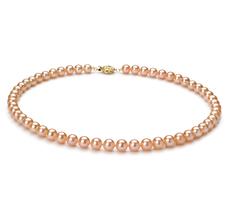 Halskette mit rosafarbenen, 6-6.5mm großen Süßwasserperlen in AAAA-Qualität , Mariel
