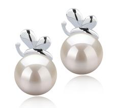 7-8mm AA-Qualität Japanische Akoya Paar Ohrringe in Marsha Weiß