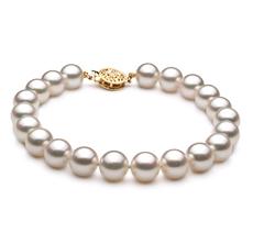 PearlsOnly - Armreifen mit weißen, 8-9mm großen Janischen Akoya Perlen in AA-Qualität , Michaela