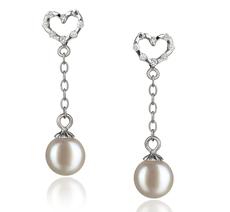 6-7mm AAAA-Qualität Süßwasser Paar Ohrringe in Mona Weiß