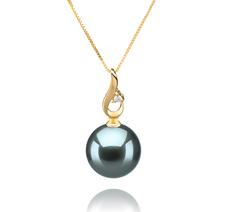 10-11mm AAA-Qualität Tahitisch Perlenanhänger in Darlene Schwarz