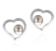 5-6mm AAAA-Qualität Süßwasser Paar Ohrringe in Nadira Weiß