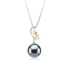 10-10.5mm AAA-Qualität Tahitisch Perlenanhänger in Nelia Schwarz