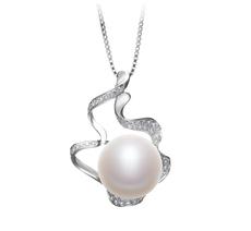 12-13mm AA-Qualität Süßwasser Perlenanhänger in Oceane Weiß