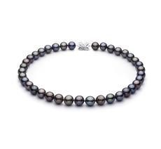 11.1-12.9mm AAA-Qualität Tahitisch Perlenhalskette in Mehrfarbig