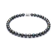 Halskette mit mehrfarbigen, 11.1-14.6mm großen Tihitianischen Perlen in AA+-Qualität