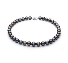 11.1-13.5mm AA+-Qualität Tahitisch Perlenhalskette in Mehrfarbig