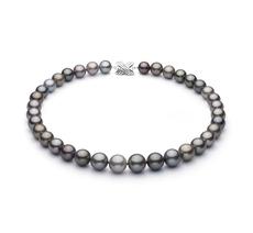 11-14.6mm AAA-Qualität Tahitisch Perlenhalskette in Mehrfarbig