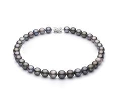 9.2-13.9mm AA+-Qualität Tahitisch Perlenhalskette in Mehrfarbig