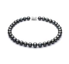 11.2-13.8mm AA+-Qualität Tahitisch Perlenhalskette in Schwarz