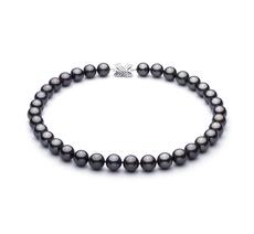 11.1-11.9mm AAA-Qualität Tahitisch Perlenhalskette in Schwarz