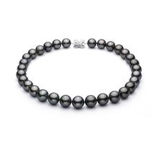 13-15.5mm AAA-Qualität Tahitisch Perlenhalskette in Schwarz