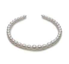 Halskette mit weißen, 8.3-14mm großen Südseeperlen in Barock-Qualität , 18-Zoll