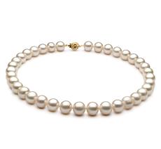 Halskette mit weißen, 10-11mm großen Süßwasserperlen in AA-Qualität