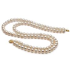 7.5-8.5mm AA-Qualität Süßwasser Perlenhalskette in Weiß