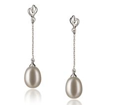 7-8mm AA-Qualität Süßwasser Paar Ohrringe in Rosa Weiß