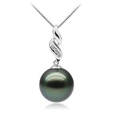 10-10.5mm AAA-Qualität Tahitisch Perlenanhänger in Seductive Schwarz