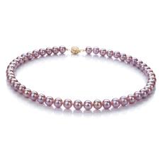 PearlsOnly - Halskette mit lavendelfarbenen, 7.5-8mm großen Süßwasserperlen in , Selena