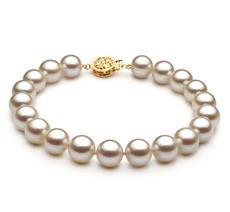 PearlsOnly - Armreifen mit weißen, 8.5-9mm großen Janischen Akoya Perlen in AAA-Qualität , Semja