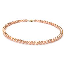 Halskette mit rosafarbenen, 6-7mm großen Süßwasserperlen in AA-Qualität , Sylvana