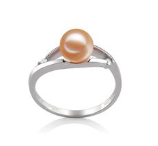6-7mm AAAA-Qualität Süßwasser Perlenringe in Tanya Rosa