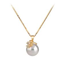 PearlsOnly - Anhänger mit weißen, 7-8mm großen Janischen Akoya Perlen in AAA-Qualität , Valerie