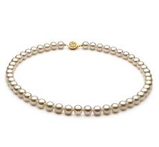 PearlsOnly - Halskette mit weißen, 7-8mm großen Süßwasserperlen in AAAA-Qualität , Venice