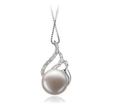 12-13mm AA-Qualität Süßwasser Perlenanhänger in Viola Weiß