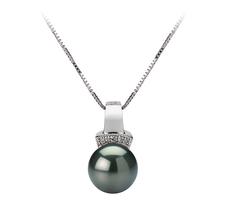 8-9mm AAA-Qualität Tahitisch Perlenanhänger in Viviane Schwarz
