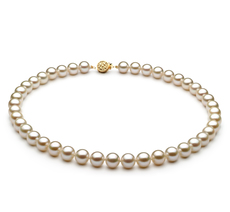 PearlsOnly - Halskette mit weißen, 8-8.5mm großen Süßwasserperlen in AAAA-Qualität , Vivienne