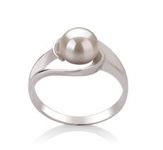 6-7mm AAA-Qualität Süßwasser Perlenringe in Wenke Weiß